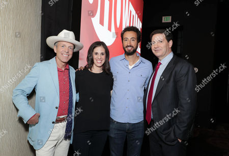 Mark McKinnon, Executive Producer of 'The Circus', Elyse Steinberg, Director/Writer of 'Weiner', Josh Kriegman, Director/Writer of 'Weiner', and Mark Halperin, Executive Producer of 'The Circus', seen at Showtime 2016 Summer TCA Press Tour at The Beverly Hilton Hotel, in Los Angeles