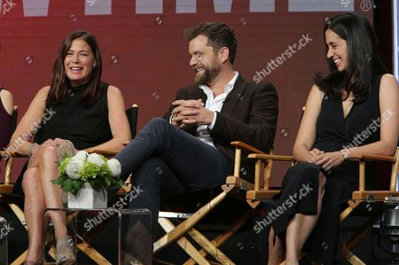 """Maura Tierney, Joshua Jackson and Sarah Treem, Writer/Executive Producer of """"The Affair"""", speak at Showtime 2016 Summer TCA Press Tour at The Beverly Hilton Hotel, in Los Angeles"""
