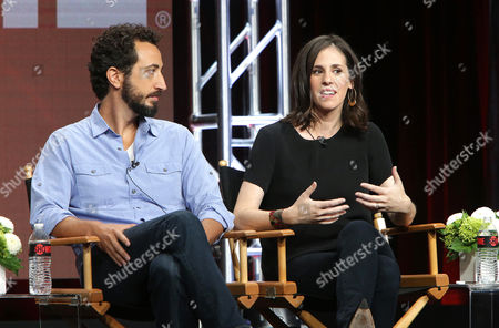 Josh Kriegman and Elyse Steinberg, Director/Writers of 'Weiner', speak at Showtime 2016 Summer TCA Press Tour at The Beverly Hilton Hotel, in Los Angeles