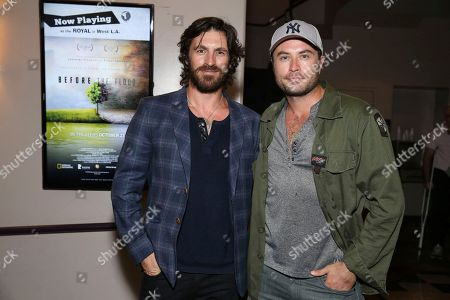 """Writer/director/actor Eoin Macken and Kevin J. Ryan seen at the American premiere of """"Leopard"""" at the Laemmle Music Hall, in Beverly Hills, Calif"""