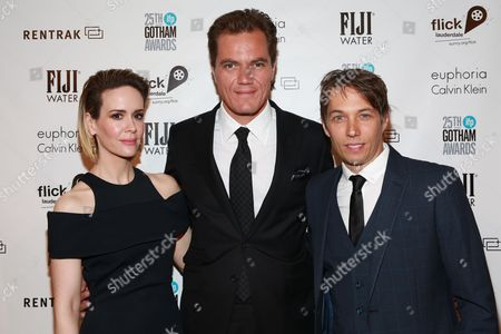 Sarah Paulson, Michael Shannon and Sean Baker seen at the IFP Gotham Independent Film Awards at Cipriani Wall Street, on in New York. The Greater Fort Lauderdale CVB's Broward Office of Film, Music & Entertainment partnered with the awards show, now in its 25th year