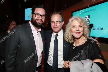 Stock Picture of Brett Haley, Thomas McCarthy and Blythe Danner seen at the IFP Gotham Independent Film Awards at Cipriani Wall Street, on in New York. The Greater Fort Lauderdale CVB's Broward Office of Film, Music & Entertainment partnered with the awards show, now in its 25th year