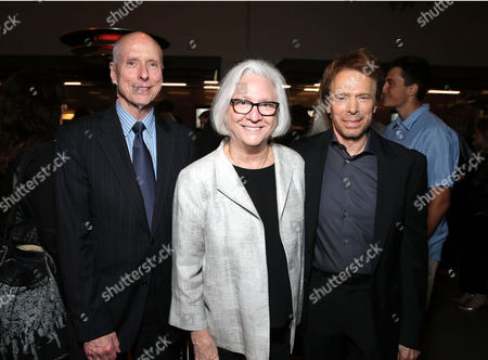 UCLA Executive Vice Chancellor and Provost - Scott Waugh, Dean of UCLA TFT - Teri Schwartz and Jerry Bruckheimer seen at The Heat is On: A Jerry Bruckheimer Film Festival at the Hammer Museum, in Los Angeles