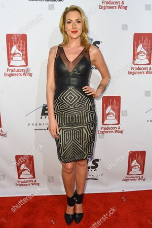 Allison McAtee attends the Recording Academy Producers and Engineers Wing 8th Annual Grammy Week Event at The Village Recording Studios, in Los Angeles