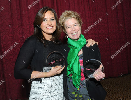 Actress Mariska Hargitay, left, and documentary filmmaker Lisa F. Jackson are honored at the 32nd annual Muse Awards presented by New York Women in Film & Television (NYWIFT), in New York. The event also honored actress Lucy Liu, Kim Martin, President & General Manager WE tv, and Debra Zimmerman, of Women Make Movies