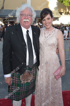 "Ronald MacFarlane, left, and Rachael MacFarlane arrive at the world premiere of ""A Million Ways To Die In The West"" at the Regency Village Theatre, in Los Angeles"