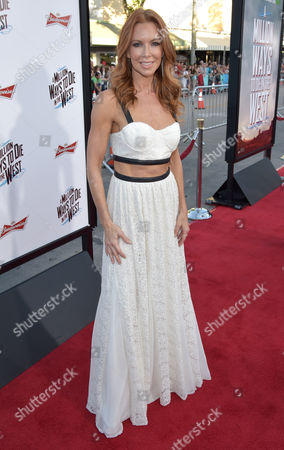 "Challen Cates arrives at the world premiere of ""A Million Ways To Die In The West"" at the Regency Village Theatre, in Los Angeles"