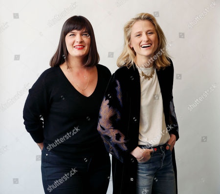 "Amanda Marsalis, director of the film ""Echo Park"", left, poses for a portrait with actress, Mamie Gummer in New York"