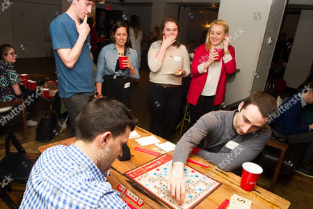 """Editorial photo of """"National Scrabble Day"""" Press Event, New York, USA"""