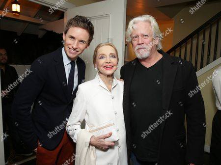 Eddie Redmayne, Anne Jeffreys and Bruce Davison seen at 'The Theory of Everything' Reception hosted by Eddie Redmayne and James Marsh, in Los Angeles, CA