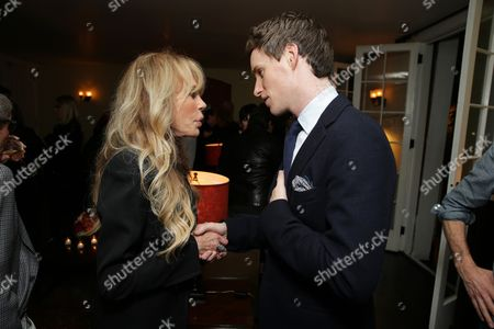 Dyan Cannon and Eddie Redmayne seen at 'The Theory of Everything' Reception hosted by Eddie Redmayne and James Marsh, in Los Angeles, CA