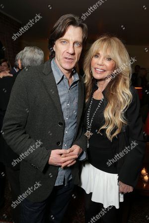 Director James Marsh and Dyan Cannon seen at 'The Theory of Everything' Reception hosted by Eddie Redmayne and James Marsh, in Los Angeles, CA