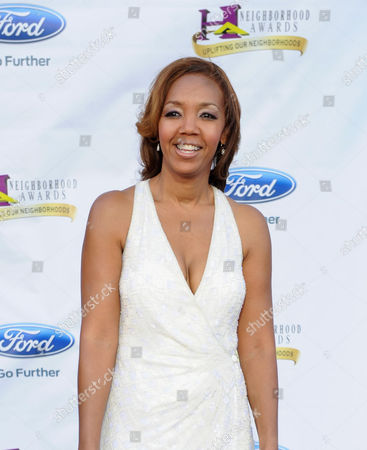 Multicultural Marketing Director for Ford, Shawn Thompson arrives at the 11th Annual Ford Neighborhood Awards, on at the MGM Grand Garden Arena in Las Vegas, Nevada