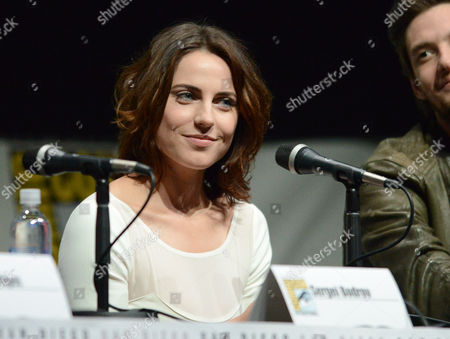 "Antje Traue attends the ""Seventh Son"" panel on Day 4 of Comic-Con International on in San Diego"