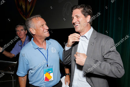 Vance Van Petten, left, and Steve Levitan attend the Produced By Conference - Day 2 at Warner Bros. Studios, in Burbank, Calif