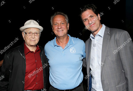 Norman Lear, and from left, Vance Van Petten and Steve Levitan attend the Produced By Conference - Day 2 at Warner Bros. Studios, in Burbank, Calif