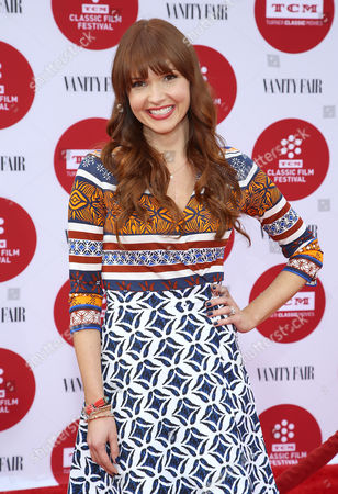 Stock Photo of Valerie Azlynn arrives at 2014 TCM Classic Film Festival's Opening Night Gala at the TCL Chinese Theatre on in Los Angeles