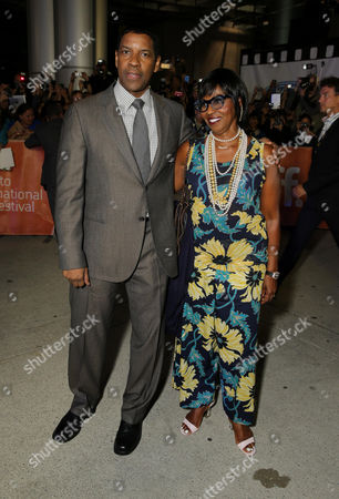 "Denzel Washington and Pauletta Pearson Washington seen at Columbia Pictures Premiere of ""The Equalizer"" at 2014 TIFF, in Toronto"