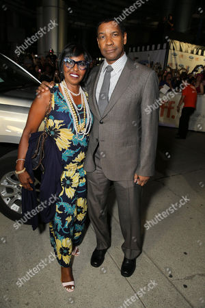 "Pauletta Pearson Washington and Denzel Washington seen at Columbia Pictures Premiere of ""The Equalizer"" at 2014 TIFF, in Toronto"
