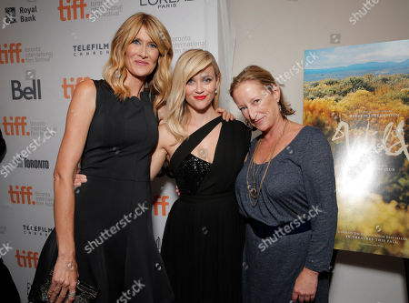 "Laura Dern, Reese Witherspoon and Fox Searchlight President of Production Claudia Lewis attend the premiere of Fox Serachlight's ""Wild"" during the 2014 Toronto International Film Festival on in Toronto, Canada"