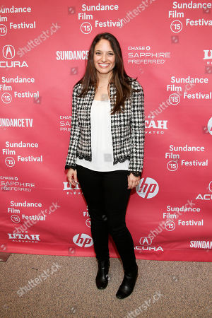 """Producer Stephanie Langhoff, right, pose at the premiere of """"The Bronze"""" during the 2015 Sundance Film Festival, in Park City, Utah"""