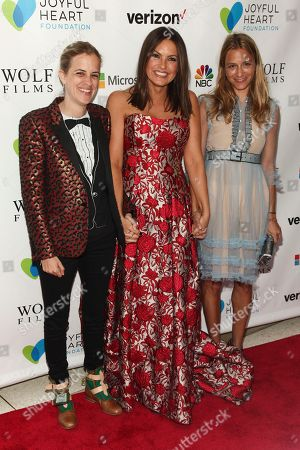 Samantha Ronson, from right, Mariska Hargitay and Charlotte Ronson attend the 2016 Joyful Revolution Gala, hosted by The Joyful Heart Foundation, at David Geffen Hall, in New York