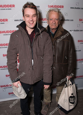 Ian Coster, left, and Nicolas Coster pose at the Shudder/Midnight party during the 2016 Sundance Film Festival, in Park City, Utah
