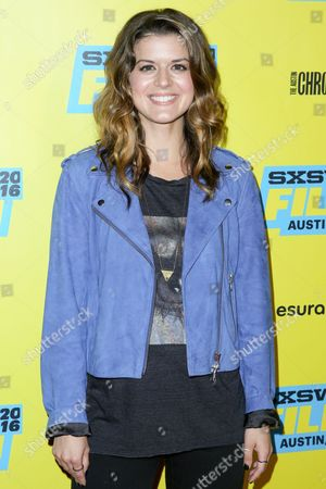 "Priscilla Faia arrives at the screening of ""You Me Her"" during South By Southwest at the Austin Convention Center, in Austin, Texas"