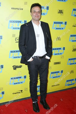 "Stock Photo of John Scott Shepherd arrives at the screening of ""You Me Her"" during South By Southwest at the Austin Convention Center, in Austin, Texas"