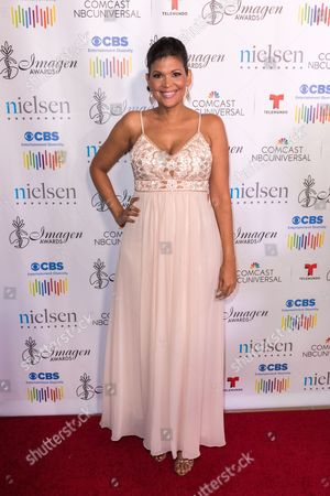 Aida Rodriguez arrives at the 31st Annual Imagen Awards ceremony, in Beverly Hills, CA