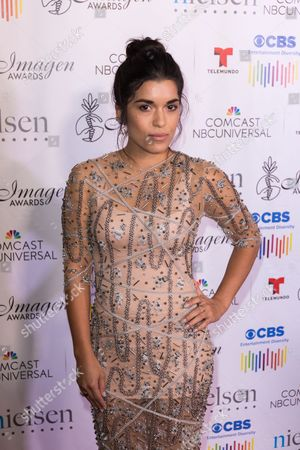 Alicia Sixtos arrives at the 31st Annual Imagen Awards ceremony, in Beverly Hills, CA