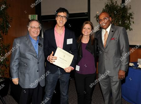 From left, Academy Governor Lee Miller, nominees Robert Trachtenberg and Gail Mancuso and nominee and President of the Directors Guild of America Paris Barclay attend the Academy of Television Arts & Sciences Directors Nominee Reception,, at the Directors Guild of America in Los Angeles, Calif