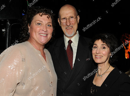 From left, Dot Marie Jones, James Cromwell and Anna Stuart attend the 65th Primetime Emmy Awards Performers Nominee Reception, on at Spectra by Wolfgang Puck at the Pacific Design Center, in West Hollywood, Calif