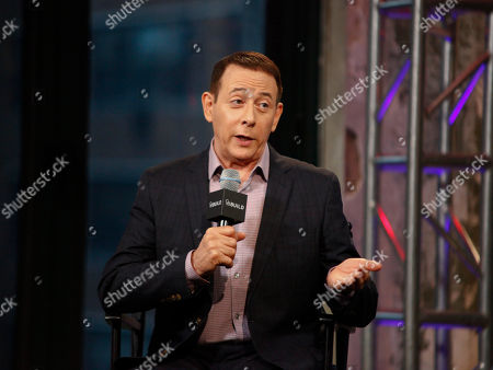 "Actor Paul Reubens participates in AOL's BUILD Speaker Series to discuss his new film, ""Pee-wee's Big Holiday"", at AOL Studios, in New York"