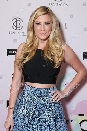 Elle Fowler arrives at BeautyCon Los Angeles 2014 in Partnership with Elle at LA Mart, in Los Angeles