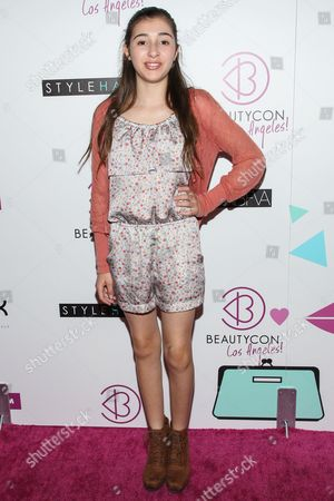 Actress Victoria Strauss arrives at BeautyCon Summit Hollywood at Siren Studios on in Los Angeles