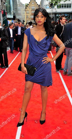 Tiana Benjamin arrives at the Fast Girls World Premiere at Odeon West End on in London