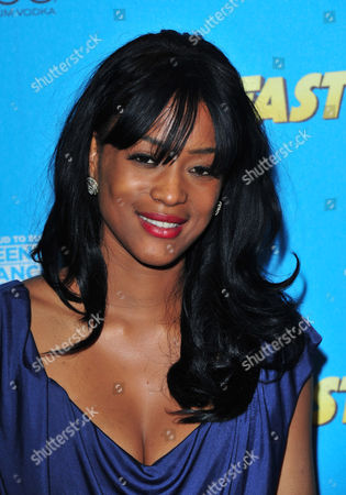 Stock Image of Tiana Benjamin arrives at the Fast Girls World Premiere - After Party at Paramount on in London