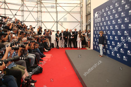 Tom Sweet poses for photographers at the photo call for the film The Childhood of a Leader at the 72nd edition of the Venice Film Festival in Venice, Italy, . The 72nd edition of the festival runs until Sept. 12