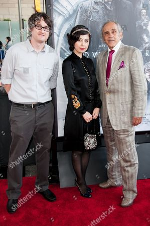"From left, Ayako Fujitani, Dave Boyle, and Pepe Serna arrive at the Los Angeles Film Festival Opening Night Gala - ""Snowpiercer"" on in Los Angeles"