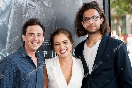 "From left, Ryan Malgarini, Haley Lu Richardson, and Kerem Sanga arrive at the Los Angeles Film Festival Opening Night Gala - ""Snowpiercer"" on in Los Angeles"