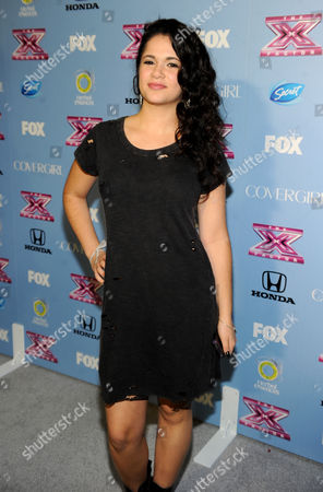 """Stock Picture of Contestant Khaya Cohen arrives at FOX's """"The X Factor"""" Season 3 Finalists Party,, at the SLS Hotel in Beverly Hills, Calif"""