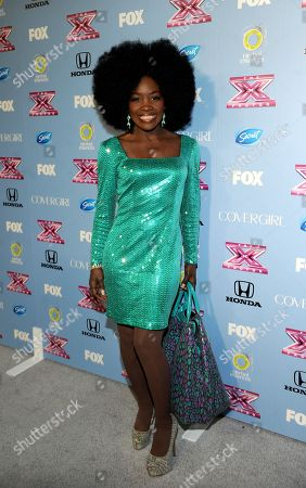 """Stock Photo of Contestant Lillie McCloud arrives at FOX's """"The X Factor"""" Season 3 Finalists Party,, at the SLS Hotel in Beverly Hills, Calif"""