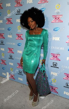 """Contestant Lillie McCloud arrives at FOX's """"The X Factor"""" Season 3 Finalists Party,, at the SLS Hotel in Beverly Hills, Calif"""
