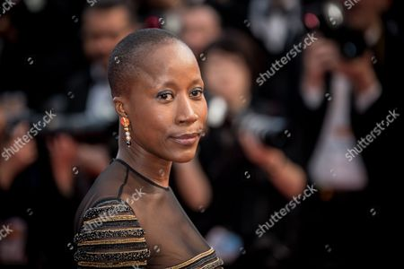 Rokia Traore poses for photographers upon arrival at the screening of the film Irrational Man at the 68th international film festival, Cannes, southern France
