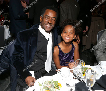 Dwight Henry and Quvenzhane Wallis attend the LA Film Critics Association Awards at the InterContinental Hotel, in Los Angeles