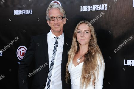 """Andy Dick, left, and Meg Dick arrive at the LA Premiere of """"Lord of the Freaks"""" on in Los Angeles"""