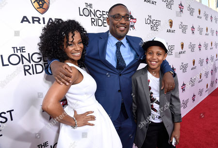 """Marcia Wright, left, and director George Tillman Jr. arrive at the premiere of """"The Longest Ride"""" at the TCL Chinese Theatre, in Los Angeles"""