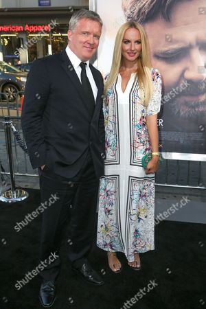 """Stock Picture of Anthony Michael Hall, left, and Lucia Oskerova arrive at the LA Premiere of """"The Water Diviner"""" at TCL Chinese Theatre, in Los Angeles"""