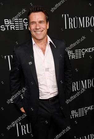"David James Elliott, a cast member in ""Trumbo,"" poses at the premiere of the film at the Academy of Motion Picture Arts and Sciences, in Beverly Hills, Calif"